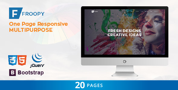 Froopy – One Page Responsive Multipurpose HTML5