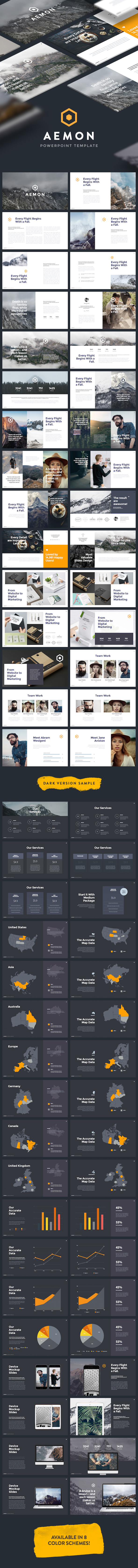 Minimal & Creative Powerpoint Template (Aemon) - Creative PowerPoint Templates