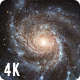 Moving Closer To Pinwheel Galaxy Through Starfield 4K Nulled