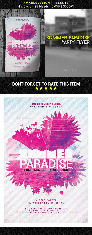 Summer Paradise Flyer - Events Flyers