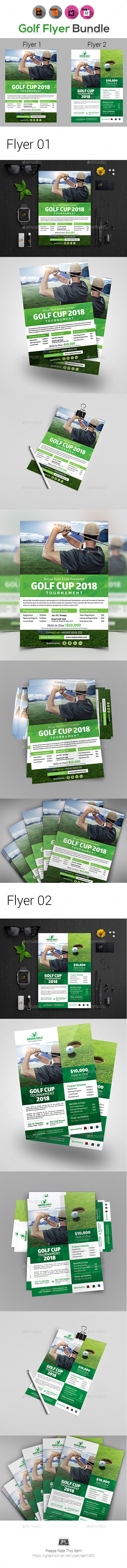 Golf Tournament Flyer Bundle V2 - Sports Events