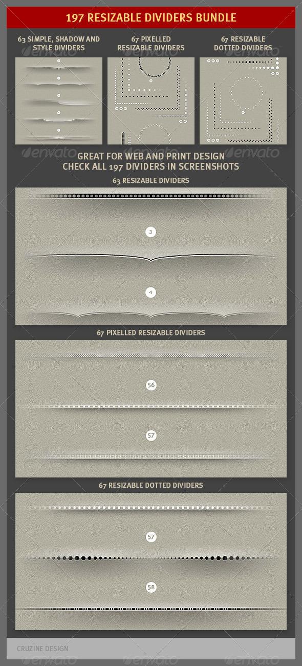 197 Resizable Dividers Bundle - Miscellaneous Web Elements