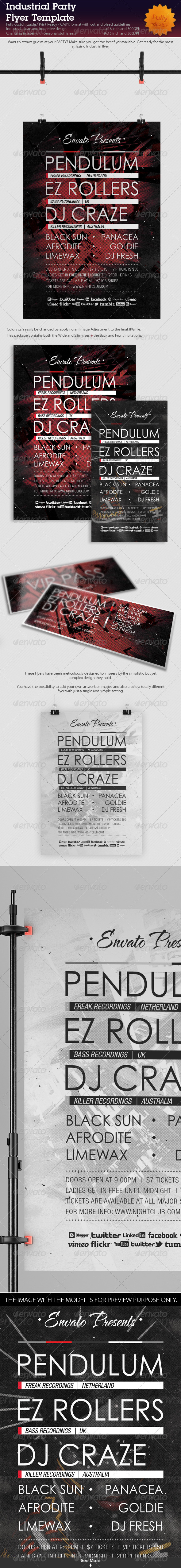 Industrial Party Flyer Template - Events Flyers