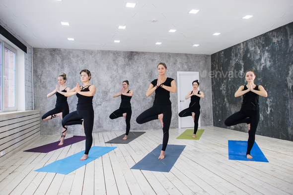 Yoga Practice Exercise Class Concept - Stock Photo - Images