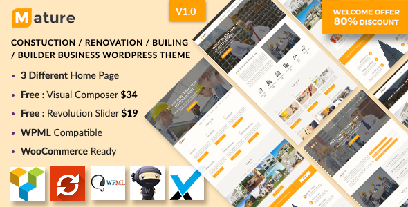 Construction – Construction And Building Business WordPress Theme
