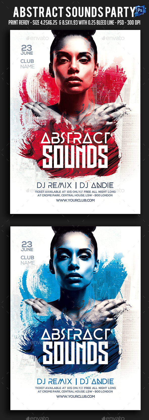 Abstract Sounds Party Flyer - Clubs & Parties Events