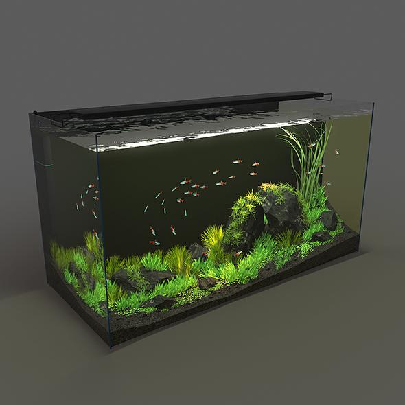 Aquarium rectangle 120l - 3DOcean Item for Sale