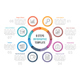 Circle Infographics with Eight Steps - GraphicRiver Item for Sale