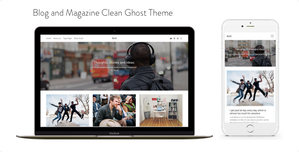 Bold - Blog and Magazine Clean Ghost Theme