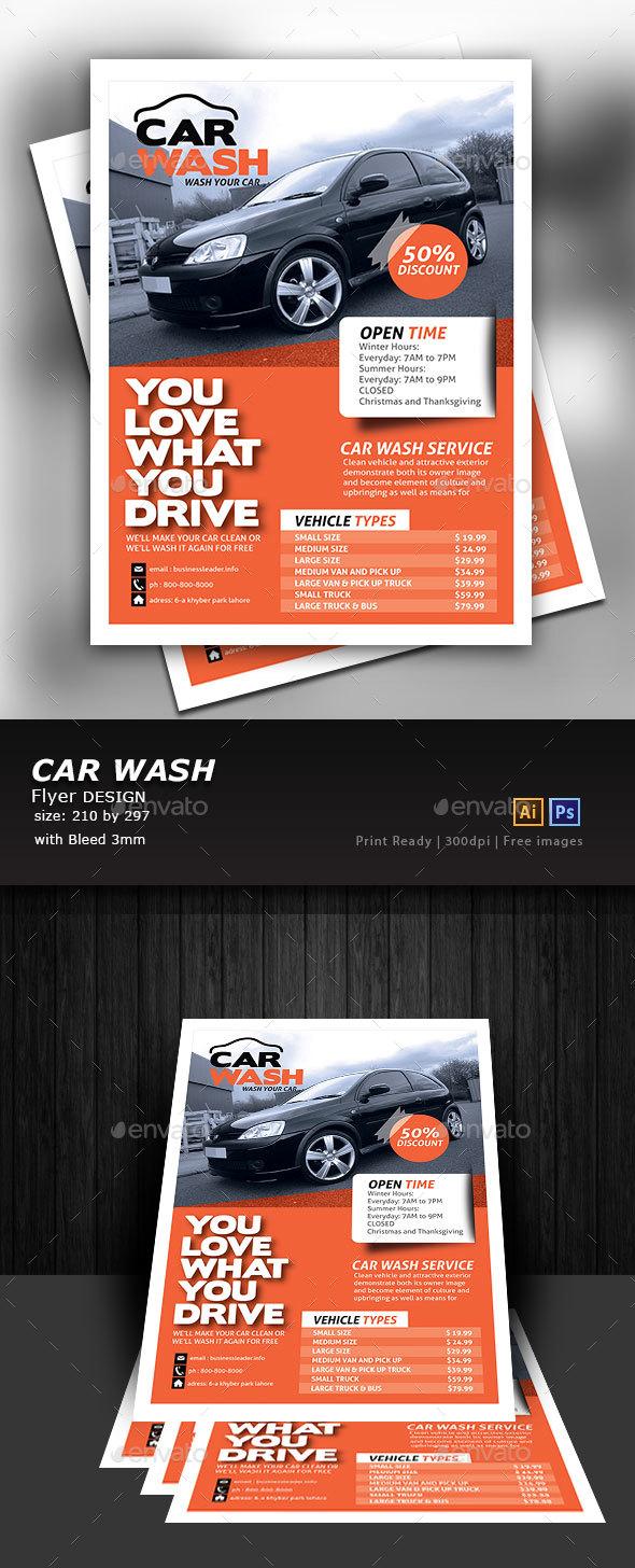 Car Wash Flyer - Flyers Print Templates