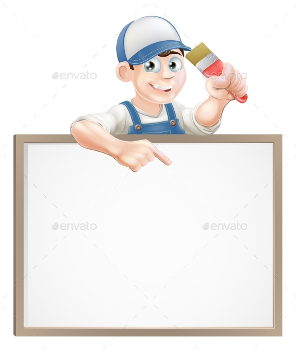 Painter Decorator Sign - People Characters