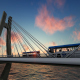 Sunset Bridge Traffic - VideoHive Item for Sale