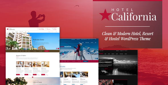 Hotel & Hostel WordPress Theme - Hotel California - Travel Retail