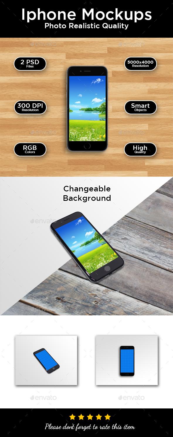 Phone Mockups - Mobile Displays