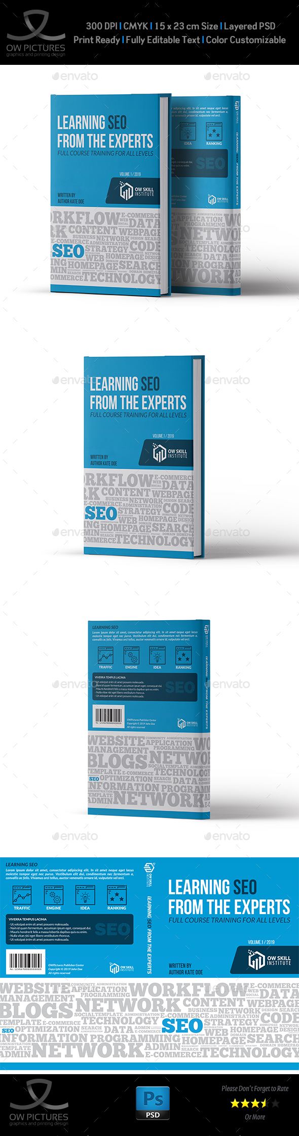 Book Cover Template Vol.3 - Miscellaneous Print Templates