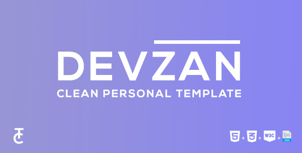 Devzan - Clean Personal HTML5 Template - Personal Site Templates