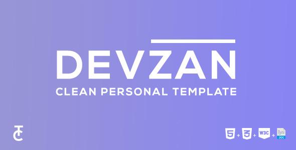 Devzan – Clean Personal HTML5 Template
