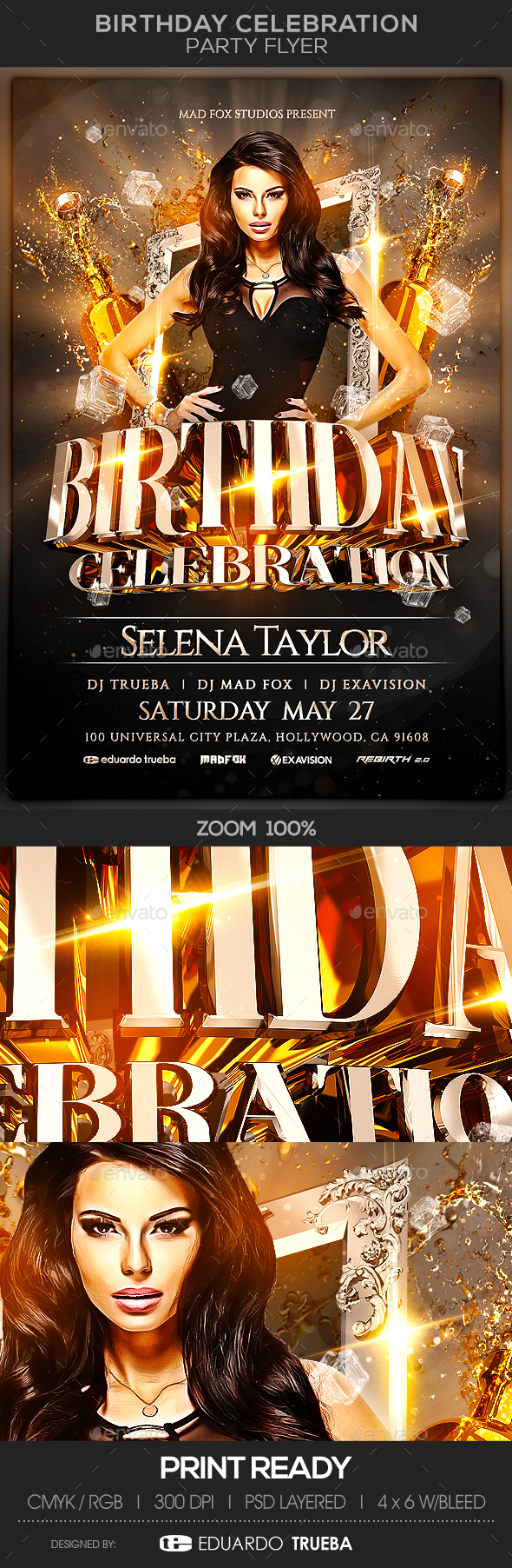Birthday Celebration Party Flyer - Clubs & Parties Events