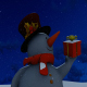 Snowman at Night - VideoHive Item for Sale