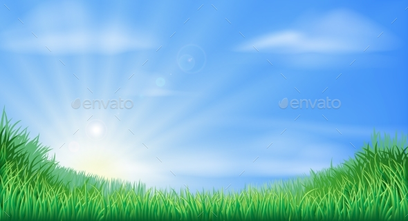 Countryside Field and Sun Rise Background - Landscapes Nature