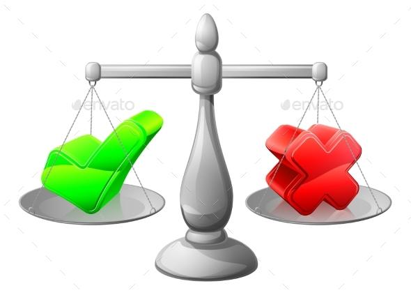 Making Decision Scales Concept - Miscellaneous Vectors