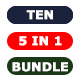 Bundle - Ten Photoshop Actions 5 in 1 - GraphicRiver Item for Sale