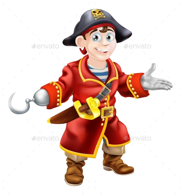 Young Cartoon Pirate - People Characters