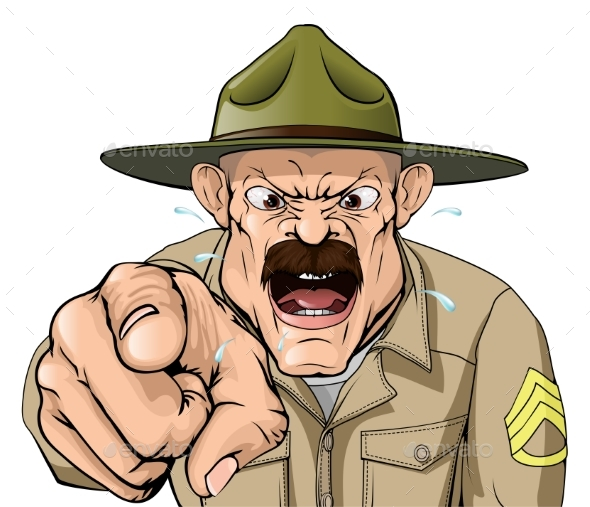 Boot Camp Drill Sergeant - People Characters