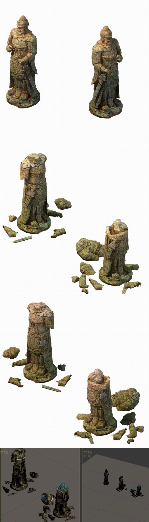 Game Model - Terracotta Warriors General statue - 3DOcean Item for Sale