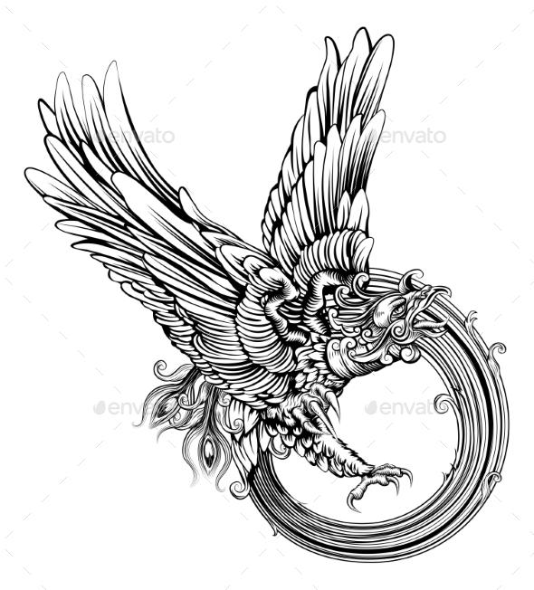 Phoenix Bird or Eagle - Animals Characters