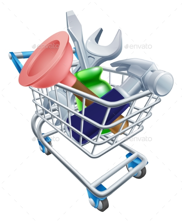 Tool Shopping Cart - Man-made Objects Objects