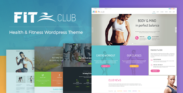 Fitness Club - Health & Fitness WordPress Theme