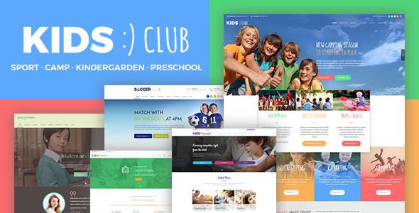 Kids Club - Sport, Kindergarten, Preschool & Camp WordPress Theme - Children Retail