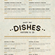 Vintage Food Menu - GraphicRiver Item for Sale