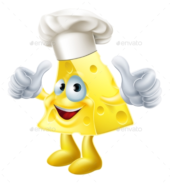 Cheese Chef Cartoon - Food Objects