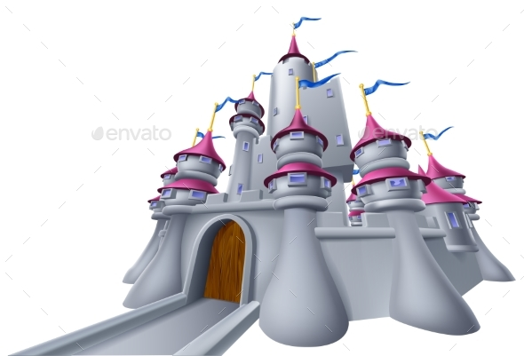 Castle Illustration - Buildings Objects