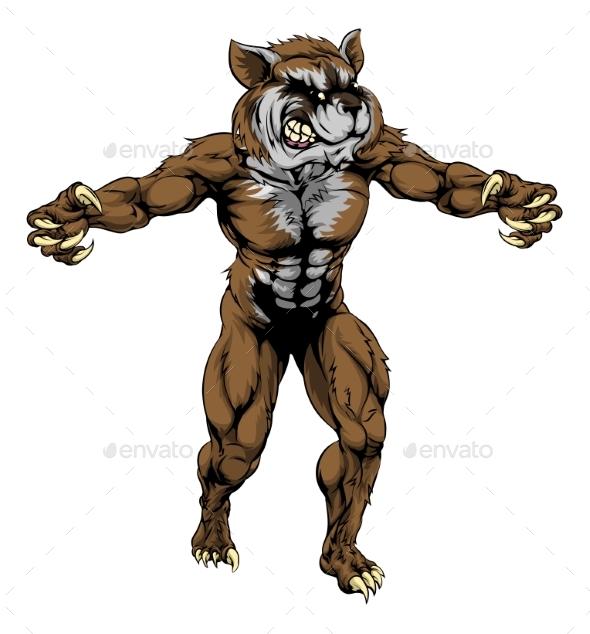 Raccoon Scary Sports Mascot - Animals Characters