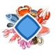 Background with Various Seafood - GraphicRiver Item for Sale