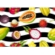 Seamless Pattern with Exotic Tropical Fruits - GraphicRiver Item for Sale