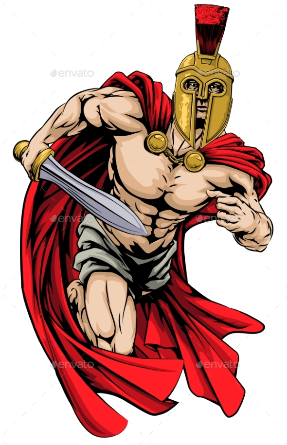 Spartan or Trojan Man - People Characters