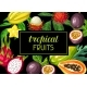 Background with Exotic Tropical Fruits - GraphicRiver Item for Sale