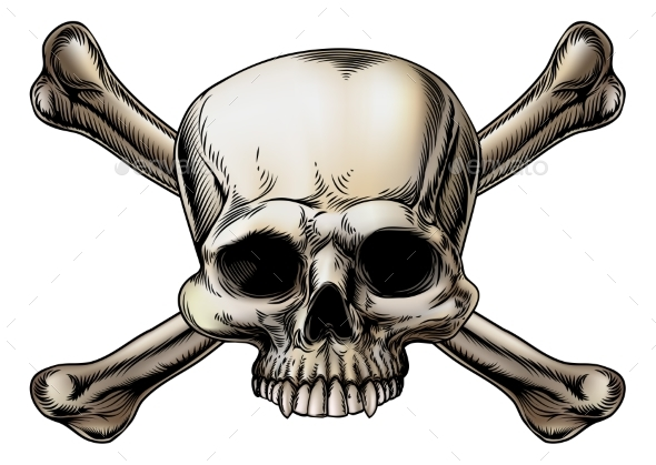 Skull and Crossbones Drawing - Miscellaneous Vectors