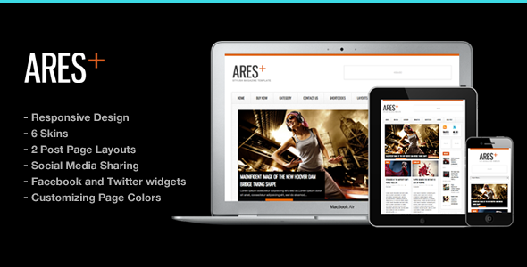 Ares Blog Magazine Newspaper Template - News / Editorial Blog / Magazine