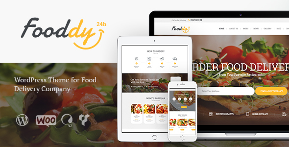 Fooddy 24/7 - Food Ordering & Delivery WordPress Theme - Food Retail