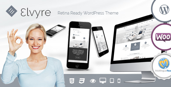 Elvyre – Retina Ready Wordpress Theme - Business Corporate