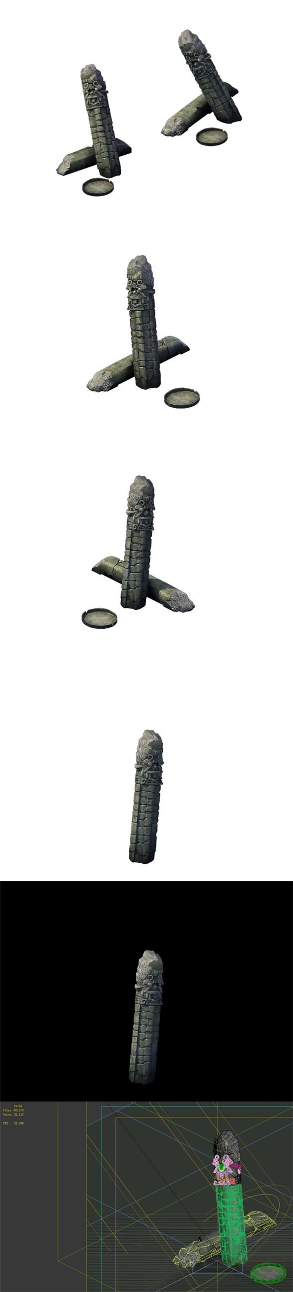 Game Model - Broken Stones 03 - 3DOcean Item for Sale
