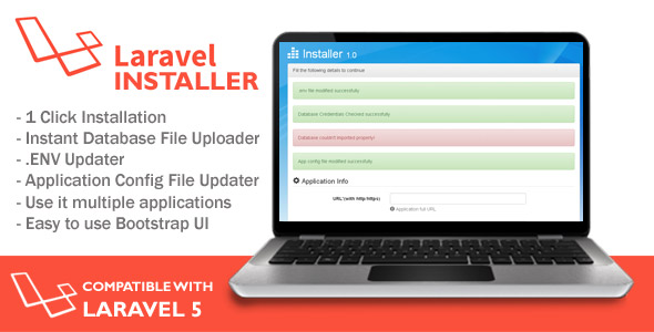 Installer for Laravel Application - CodeCanyon Item for Sale