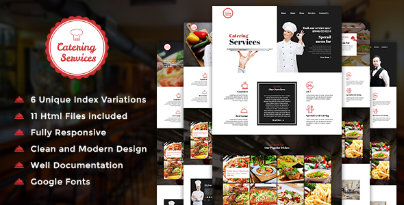 Catering - Chef and Food Restaurant Template | Chef Portfolio - Restaurants & Cafes Entertainment