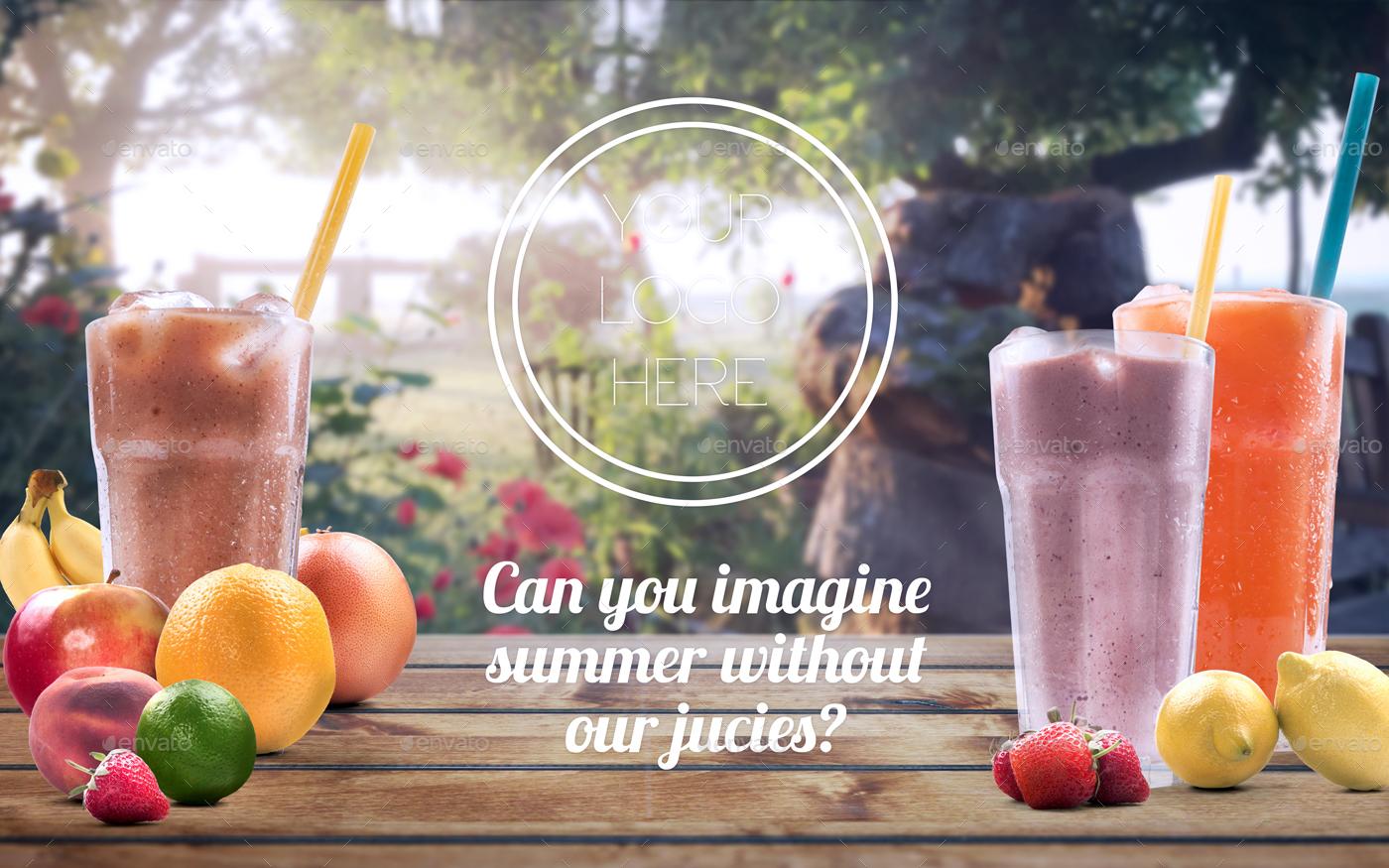 organic juice mockup  u0026 hero image scene generator by creativeform