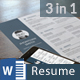 Resume Bundle 3 in 1 - GraphicRiver Item for Sale